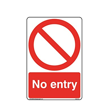 No Entry Signs A4 Dibond Sign Printing on 3mm AluminiumNo Parking Safety