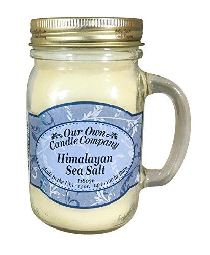 Our Own Candle Company Himalayan Sea Salt Scented 13 Ounce Mason Jar ()