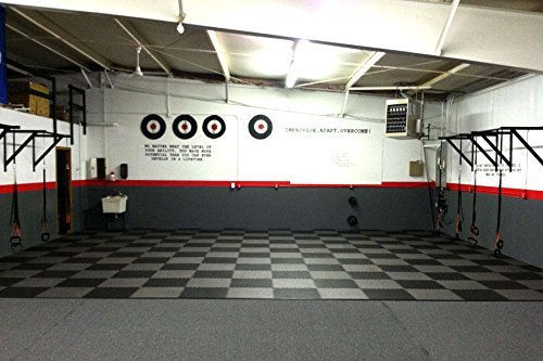 IncStores - 1'' MMA Interlocking Foam Tiles (Black/Grey, 6 Tiles (2ft x 2ft Tiles) 24 Sqft) - Perfect for Martial Arts, Lightweight Home Gyms, p90x, Insanity, Gymnastics, Yoga, Cardio and Aerobics by IncStores (Image #7)