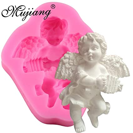 Amazon.com: 1 piece Cute Angel Boy With Electronic Organ Shape 3D Silicone Cake Mold Soap Candle Molds Kitchen Baking Fondant Cake Decorating Tools: Kitchen ...