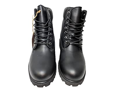 Amazon.com | NYC Tough Boot Company Premium Water Resistant Mens Leather Work Boots with Natural Blend Rubber Outsole | Industrial & Construction Boots