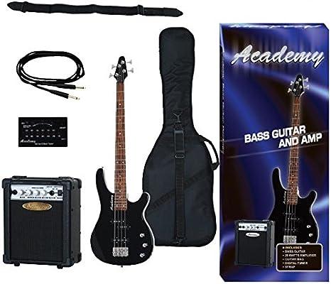 Pack Guitarra Bajo Academy Negro: Amazon.es: Instrumentos musicales