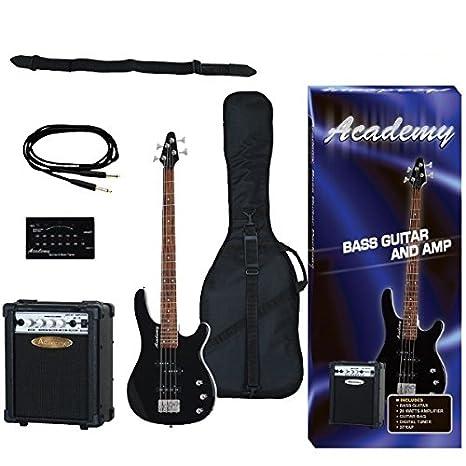 Pack Guitarra Bajo Academy Negro