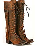 Lane Women's Junk Gypsy by Chili Trailblazer Lace-Up Western Boot Snip Toe Chili 8 M US