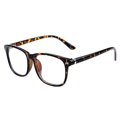 c8133100d63b6 Hzjundasi Anti-rayonnement Anti-fatigue Des lunettes pour Femme et Homme  Lentille claire Rétro Plein Cadre Lunettes  Amazon.fr  Vêtements et  accessoires