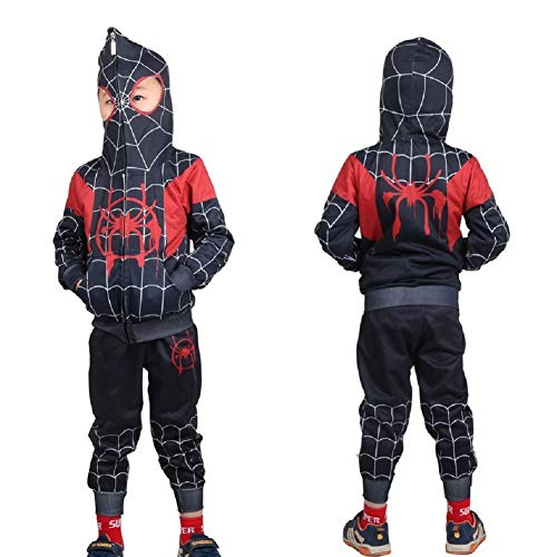 DELight Superhero Jumpsuit Halloween Cosplay 3D Costume Kids Lycra Spandex Zentai Bodysuit 11T/150]()