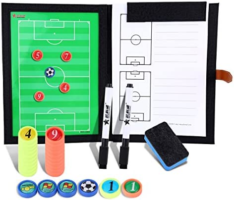 BizoeRade Professional Fußball Taktikmappe Taktiktafel Fußball Coach-Board mit Stifte, Radiergummi, Aufbewahrungstasche