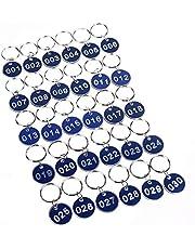 Aluminium och plast nyckelbricka numrerade nyckelringar 30 mm