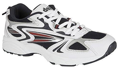 Dek - Zapatillas de running para hombre blanco grisáceo