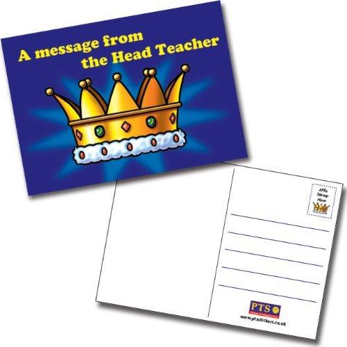 Head Teacher Crown Postcard Home A6 x 20 Primary Teaching Services