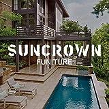 SUNCROWN Outdoor Patio Furniture 7-Piece Wicker