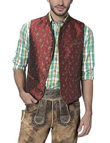 Stockerpoint Herren Trachtenweste Weste Mario, Rot (Ziegel), Large (Herstellergröße: 52)