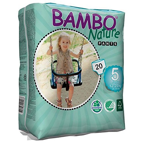Large Product Image of Bambo Nature Eco Friendly Baby Training Pants Classic for Sensitive Skin, Size 5 (26-44 lbs), 20 Count