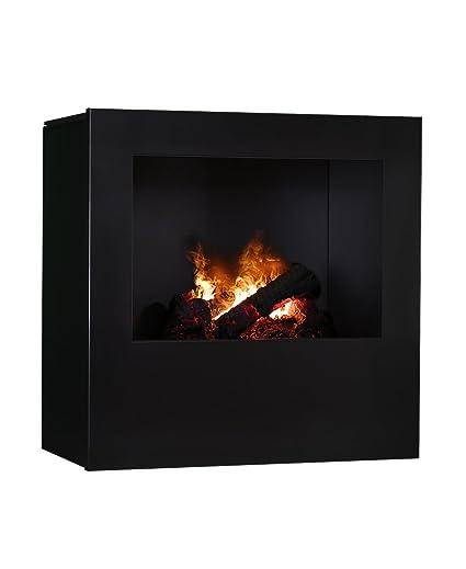 Magma infrarrojos-estufa de leña 04, chimenea eléctrica de calor Optimyst con verdadera,