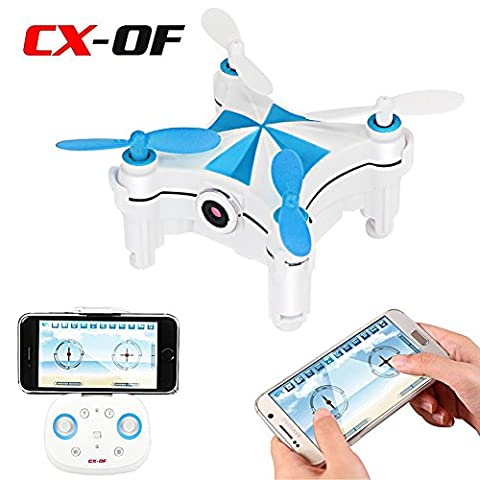 Cheerson CX-OF Optical Flow Sensor Dance Entertainment Selfie 2.4GH 4CH 6 Axis iOS/Android APP Wifi Romote Control RC FPV Real Time Video Mini Quadcopter Helicopter Drone UFO with 0.3MP HD - 0 White Camber
