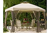 The Outdoor Patio Store Replacement Canopy for Jaclyn Smith Today Dutch Harbor Gazebos 7-8001237920-2, 769455755322, SS-I-138-3GZN