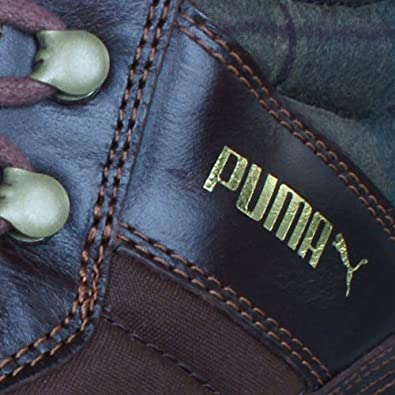 PUMA Montapon Leather Baskets Hommes Brown 39: