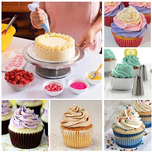 Jackify Douilles Pâtisserie, 50 Pièces en Acier Inoxydable DIY Kits, 48 Douilles, 1 Poches à Douille Réutilisable, 1 Coupleurs, DIY Kits pour Décoration de Gâteaux