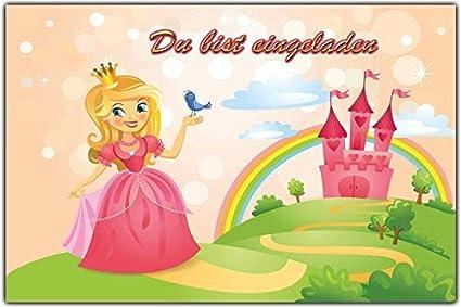 Invitaciones Cumpleaños Infantil princesa & candado ...