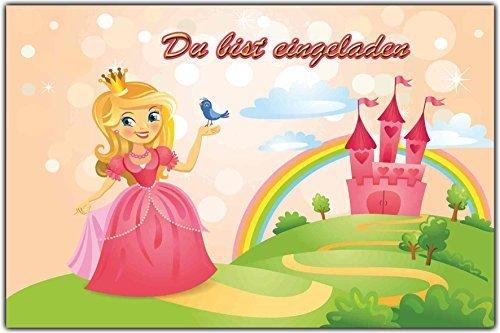 Einladungskarten Kindergeburtstag Prinzessin U0026 Schloss Einladung  Prinzessinnen   (8 Stück): Amazon.de: Bürobedarf U0026 Schreibwaren