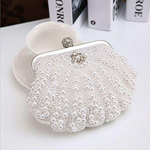 Handbag Purses Glitter Mini Clutch Hasp Bags Weding Crystal Rhinestones Beaded Messenger white Evening Shell Xuanhemen q8wI11
