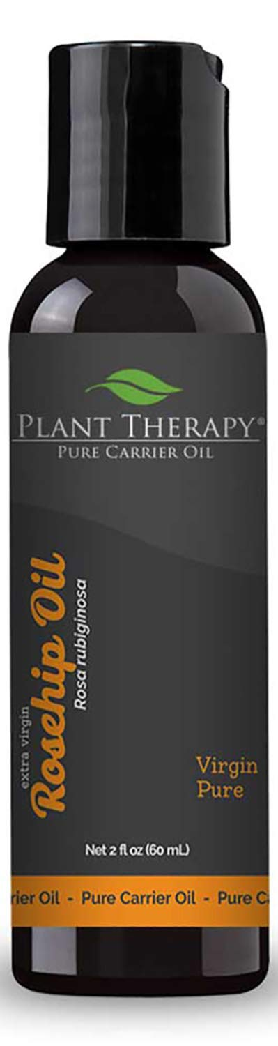 Plant Therapy Rosehip Extra Virgin Carrier Oil 2 oz Base for Aromatherapy or Essential Oil Massage by Plant Therapy