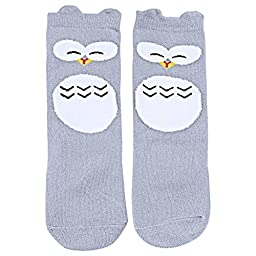 OLABB Unisex Baby Socks Knee High Stockings Animal Theme 6 Packs Gift Set, Animals A, M 1-3T
