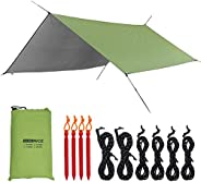 WoneNice Camping Hammock Tarp, Waterproof Windproof Lightweight Durable Rainfly Shelter, Perfect for Camping,