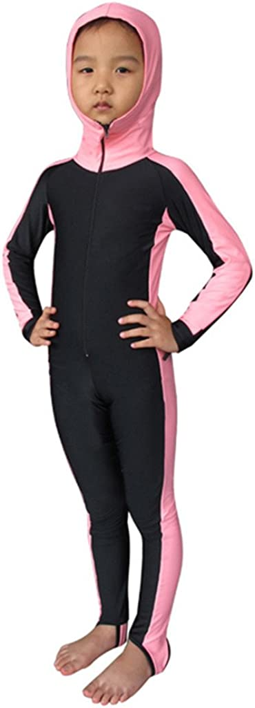 Micosuza Kids One Piece Swimsuit Sun UV Protective Rash Guard Swimwear