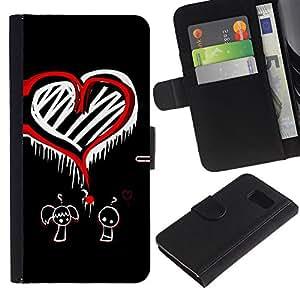 All Phone Most Case / Oferta Especial Cáscara Funda de cuero Monedero Cubierta de proteccion Caso / Wallet Case for Sony Xperia Z3 Compact // Heart Love Question Mark Red Boy Girl Art