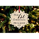 Personalized Christmas Ornament- 1st Christmas Snowflake