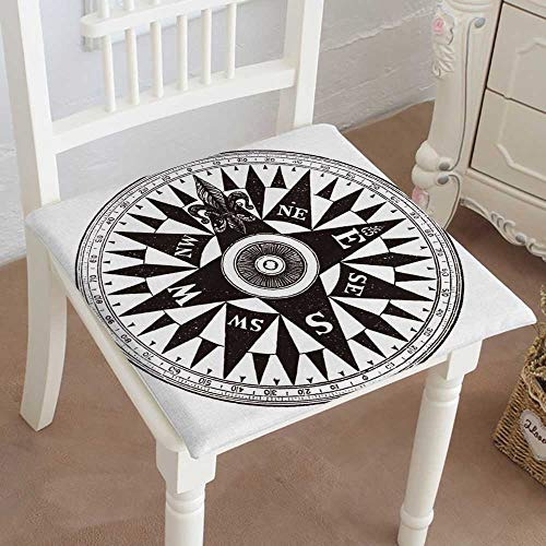 Mikihome Squared Seat Cushion British Navy Compass Vintage Engraved of British Navy Compass Isolated Against Garden Patio Home Kitchen Office Sofa Seat Pad 22