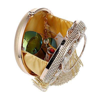 KYS Bolso de mano del bolso de mano de la cena del banquete del banquete de lujo de las flores hechas a mano de Corea del Sur de la mujer de , silver Gold