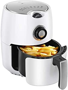 2.2 L Air Fryer, 1000W Electric Hot Air Fryer Oven Oilless Cooker, Adjustable 30min Timer & Temperature Controller, Healthy oil-free Cooking, White