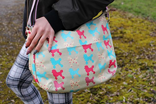 Flowers amp; Poodle School Gym Dot Strap Rainbow Various Blue Pattern Dark Polkadots Sling Kukubird Bag Crossbody Stars Messenger Butterfly Polka 5fgxwqOt0