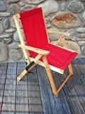 Cheap Blue Ridge Home Fashion Highlands Folding Deck Chair in Red