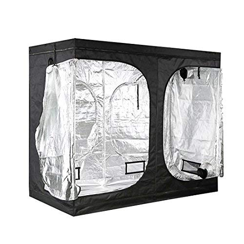 $120.99 indoor grow tent packages A1KINGDOM 96″x48″x80″ Hydroponic Mylar Indoor Grow Tent with Observation Window,Removable Floor Tray and Solid Structure for Grow Light and Indoor Plant Growing 2019