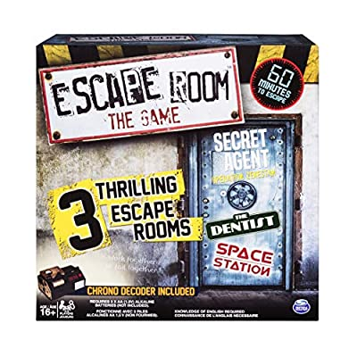 Spin Master Games - Escape Room The Game with 3 Thrilling Escape Rooms to Play, for Ages 16 and Up: Toys & Games