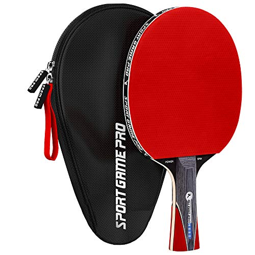 Ping Pong Paddle JT-700 with Killer Spin with Case  - Professional Table Tennis Racket for Beginner and Advanced Players - Improve Your Ping Pong Skills with JT-700 Ping Pong Paddle Set