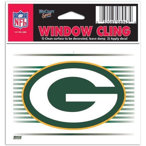 Green Bay Packers NFL 3x3 Static Window Cling Decal (Green Bay Packer Window Clings)
