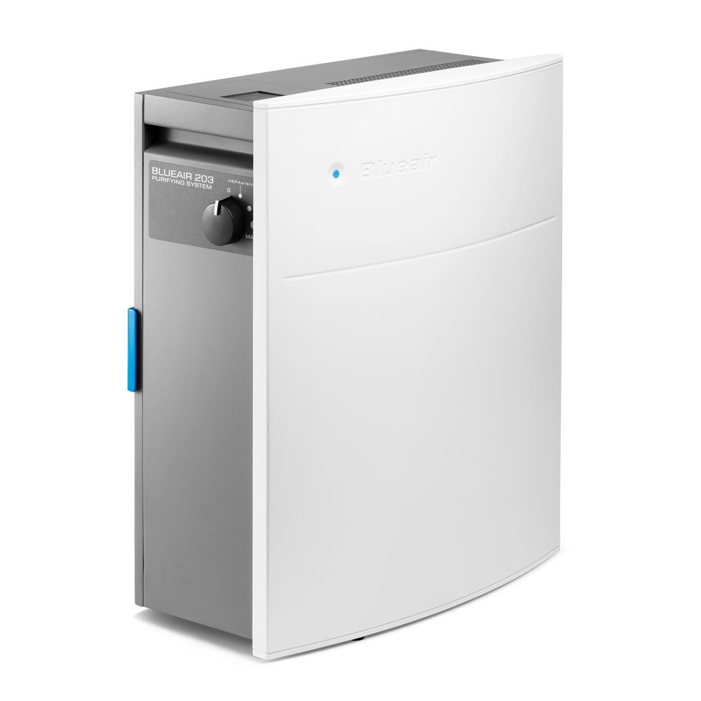Blueair Classic 203 Slim HepaSilent Air-Purification System, Allergy and Dust Reducer, Small Rooms 237 sq. ft., White