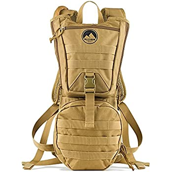 ... Water Backpack 900D with 3 Liter BPA Free Leak Proof Wide Mouth Bladder & Bite Tip for Camping, Running, Hiking & Cycling, Adjustable Molle Backpack