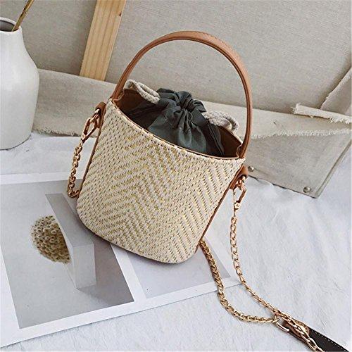 New Woven Beach Fashion Retro Bag Elegant Straw Storage Bag Mimicked Ibaste 2018 Women Bag THnZ1qqRW5