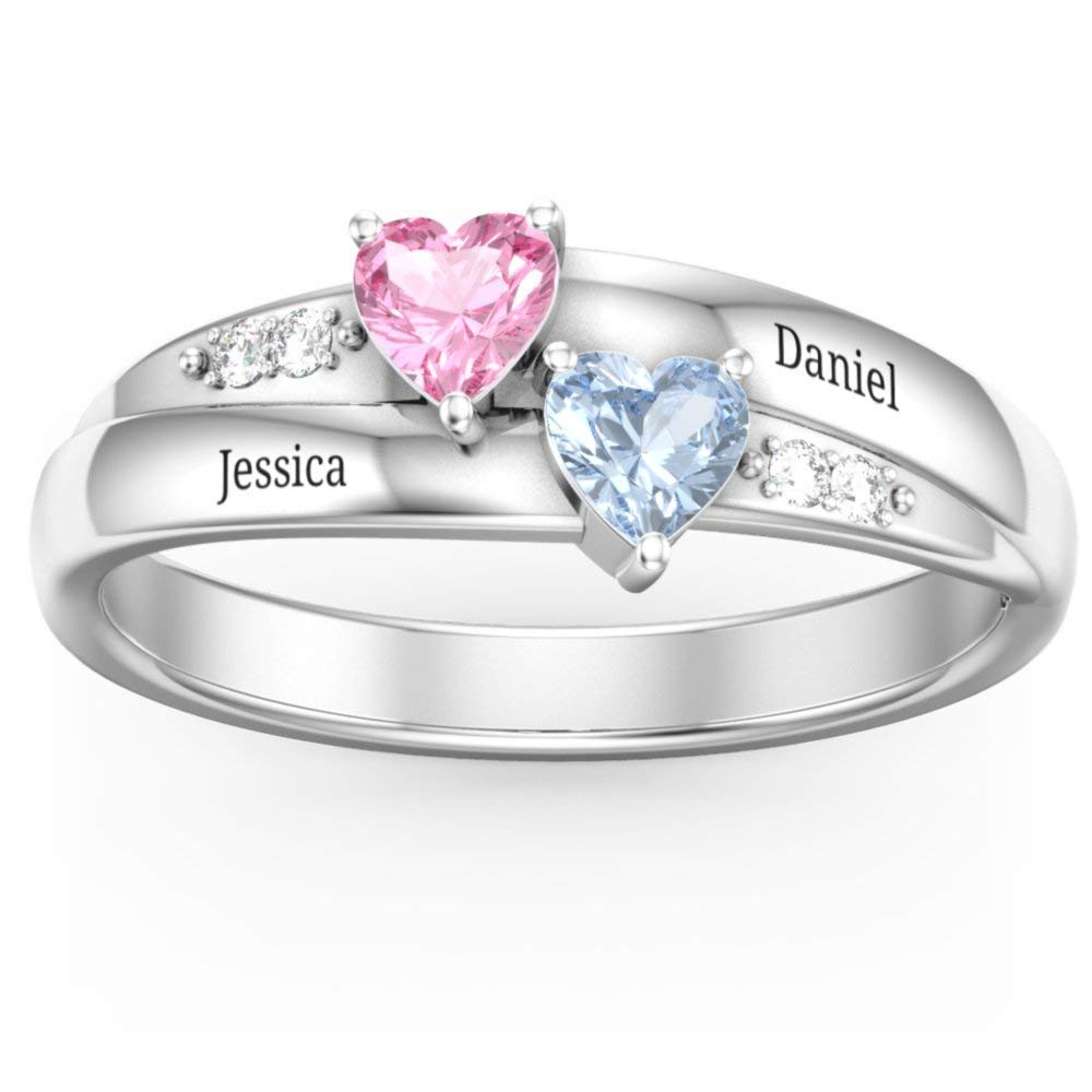 Amazon Com Personalized Promise Rings For Couples Custom