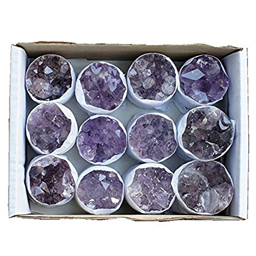12 Piece Class a Cylinder Shaped Uruguay Amethyst Druze Set Crystal Quartz Druzy Clusters from Brazil