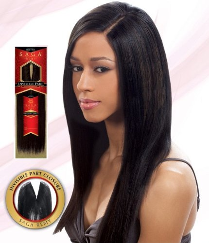 SAGA 100% REMY HUMAN HAIR INVISIBLE PART CLOSURE 12