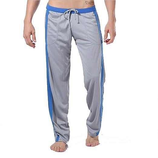 Yhjklm Pantalones Largos de Yoga para Hombres Entrenamiento ...