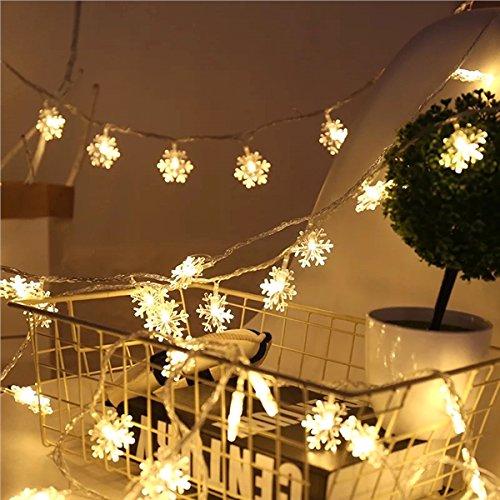 Forma nieve OurLeeme Luz de Navidad LED luces de cadena de botellas para la decoración