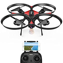Drocon U818plus Wifi Fpv Drone With Wide-angle Hd 2mp Camera,15 Min Flight Time, Altitude Hold, Headless Mode, One-button Take-off & Landing, Tf Card 4gb Included, Quadcopter Designed For Beginners