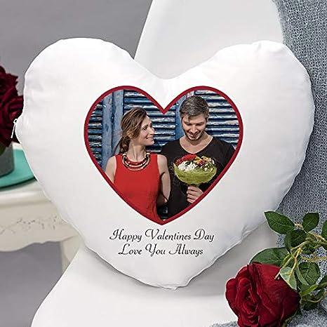 Día de San Valentín en forma de corazón cojín lichtbild ...